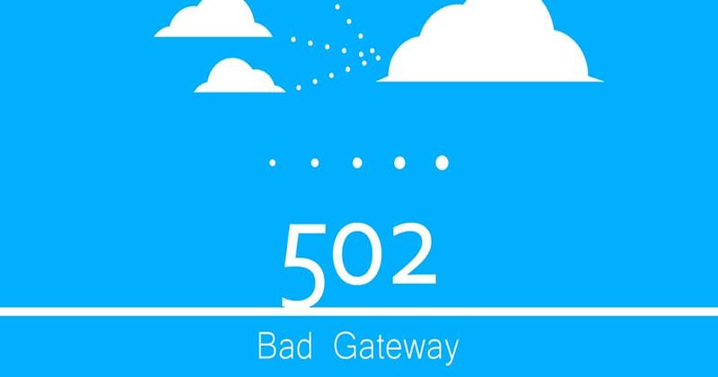 خطای 502 bad gateway