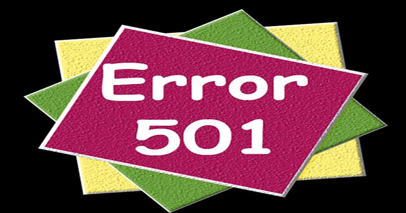 خطای 501 Not Implemented