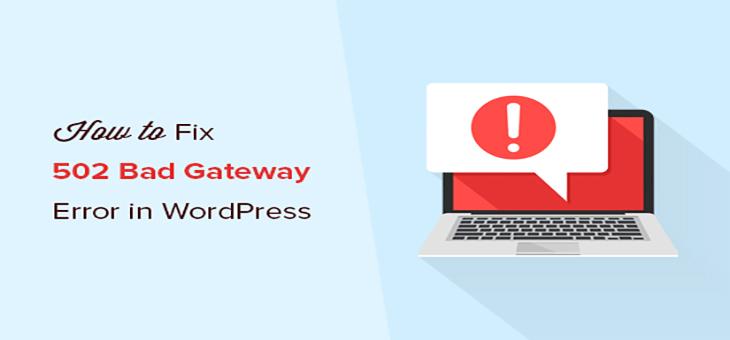 دلایل بروز خطای 502 bad gateway