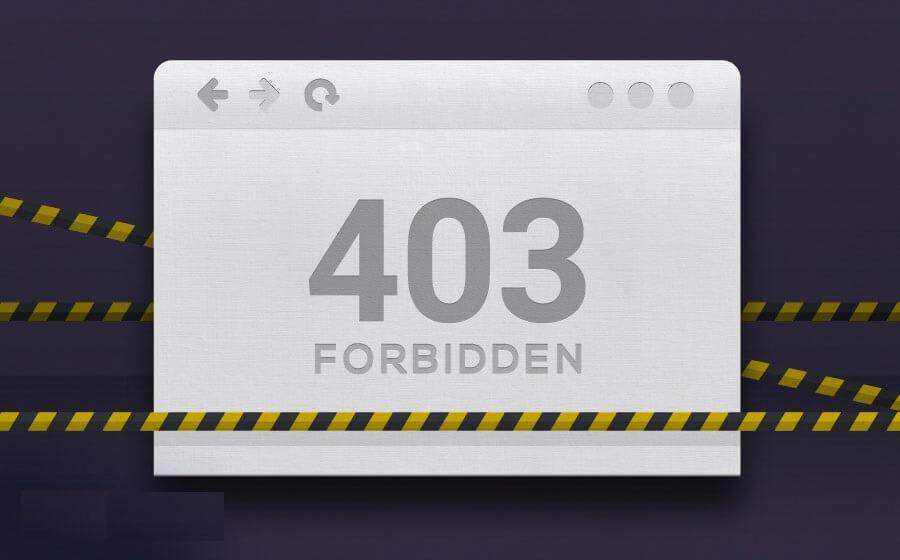 نحوه رفع خطای 403 forbidden