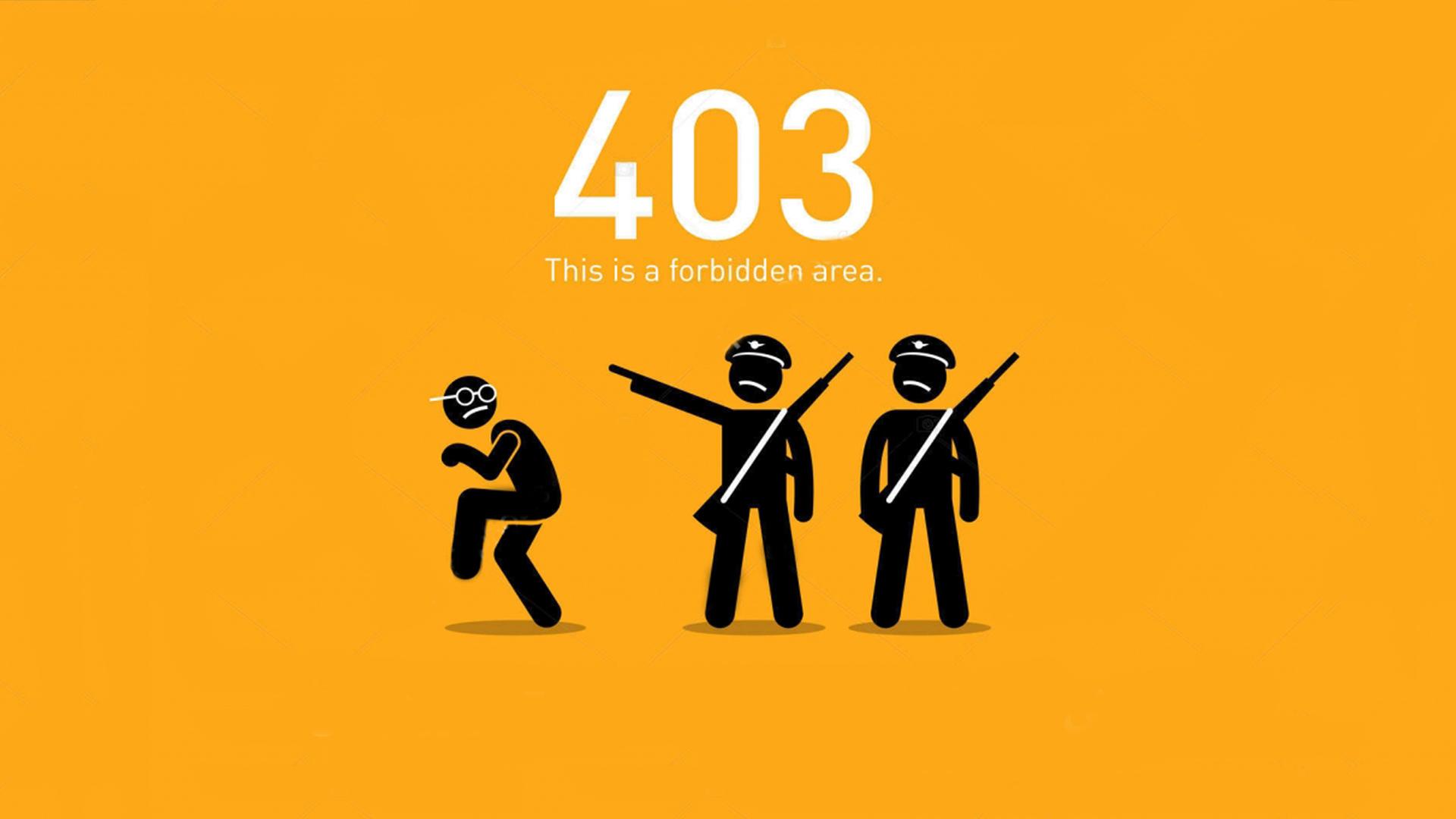 نحوه نمایش خطای سرور داخلی 403