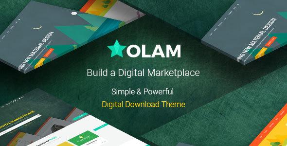 قالب فروش فایل Olam