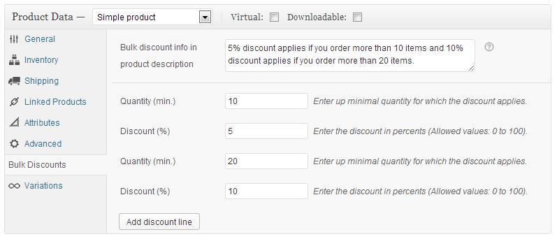 افزونه WooCommerce Bulk Discount