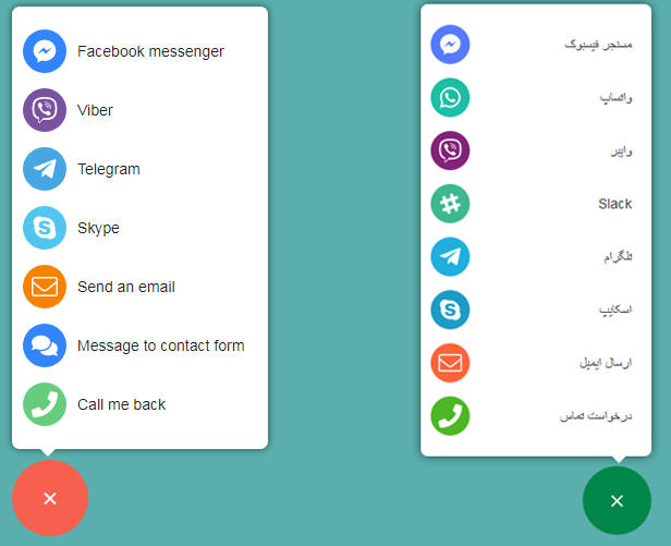افزونه All in One Support Button